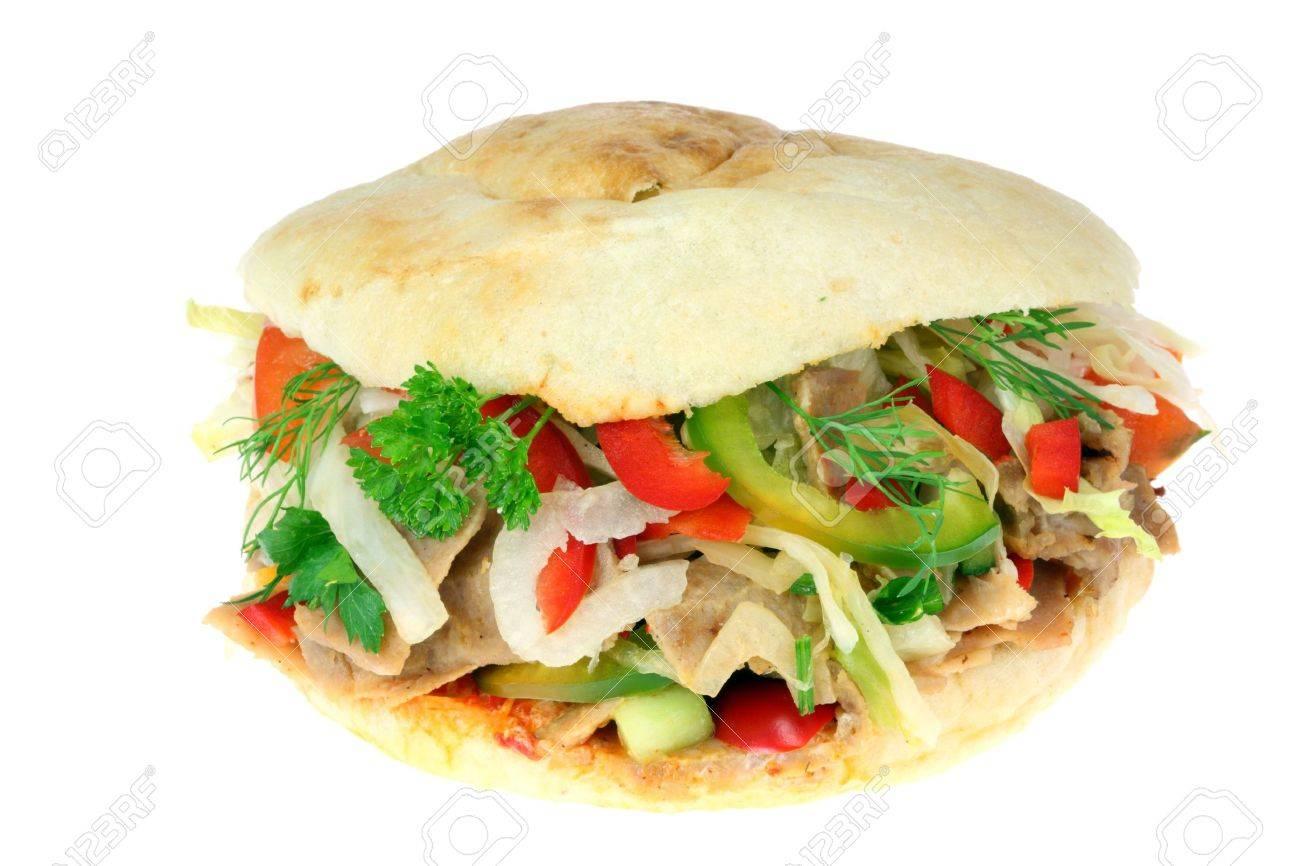Doner kebab on a white background. Stock Photo - 4694312