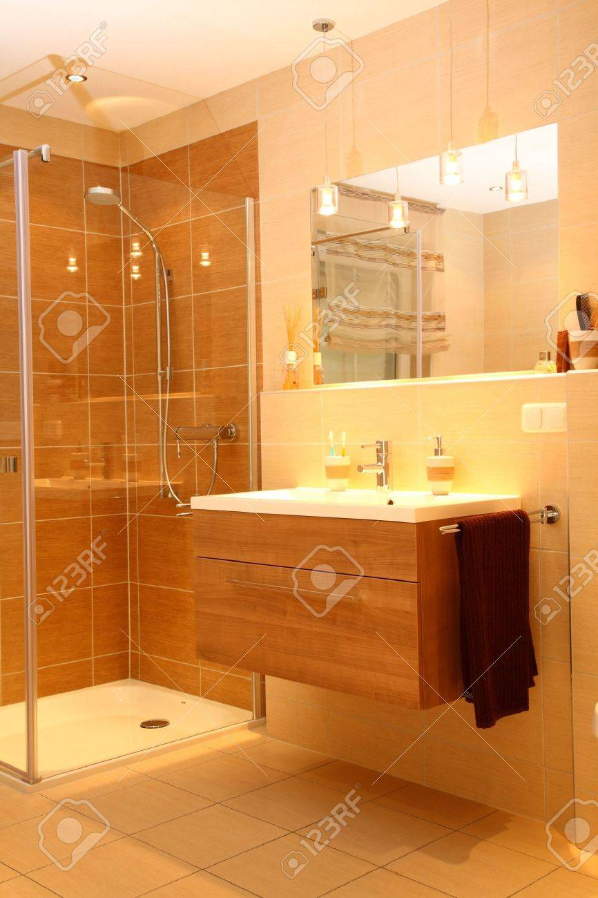 Luxury bathroom with a modern shower. Stock Photo - 5731977