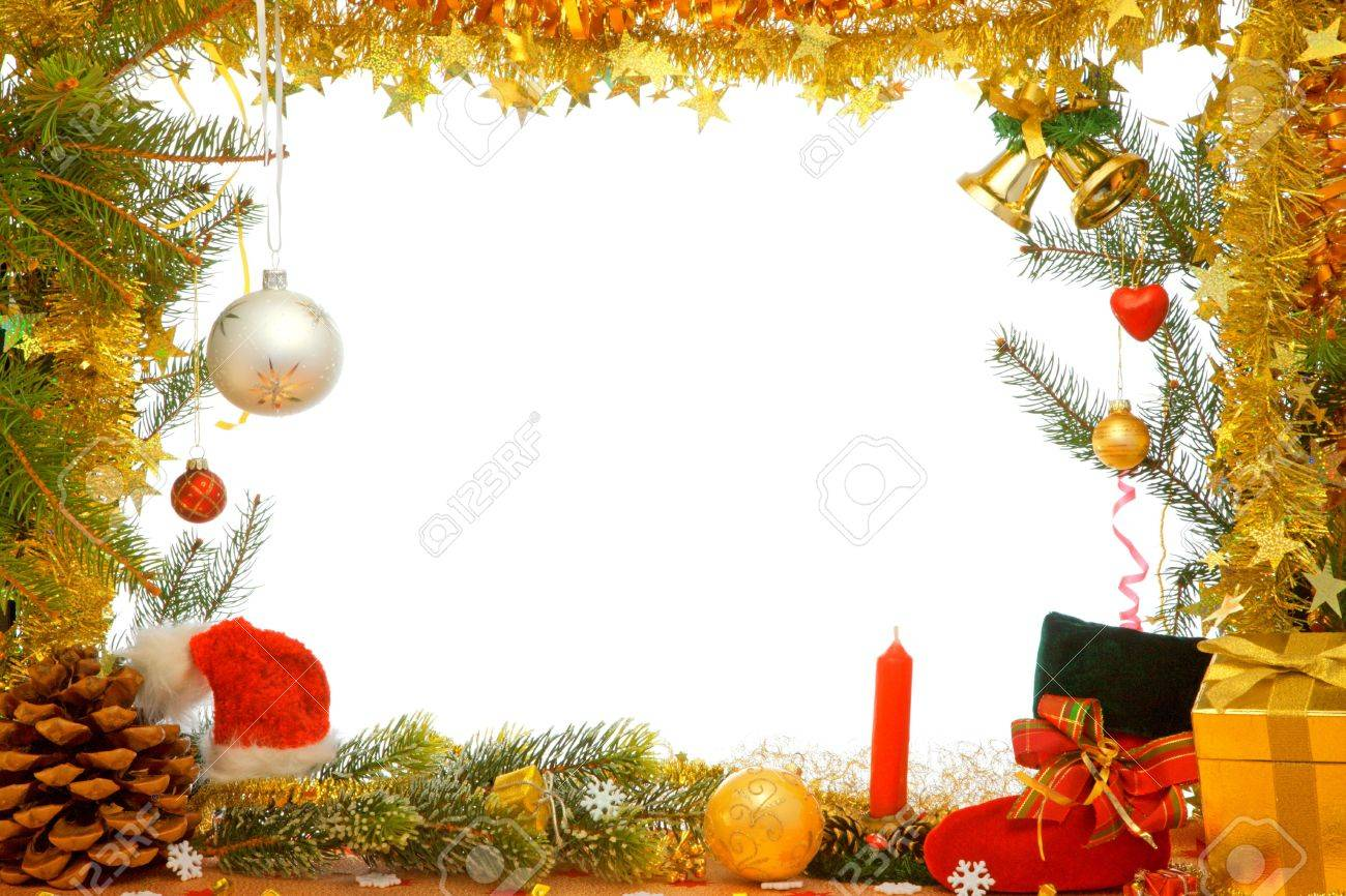 Christmas decorations of ball, ribbons and garlands. Stock Photo - 5919010
