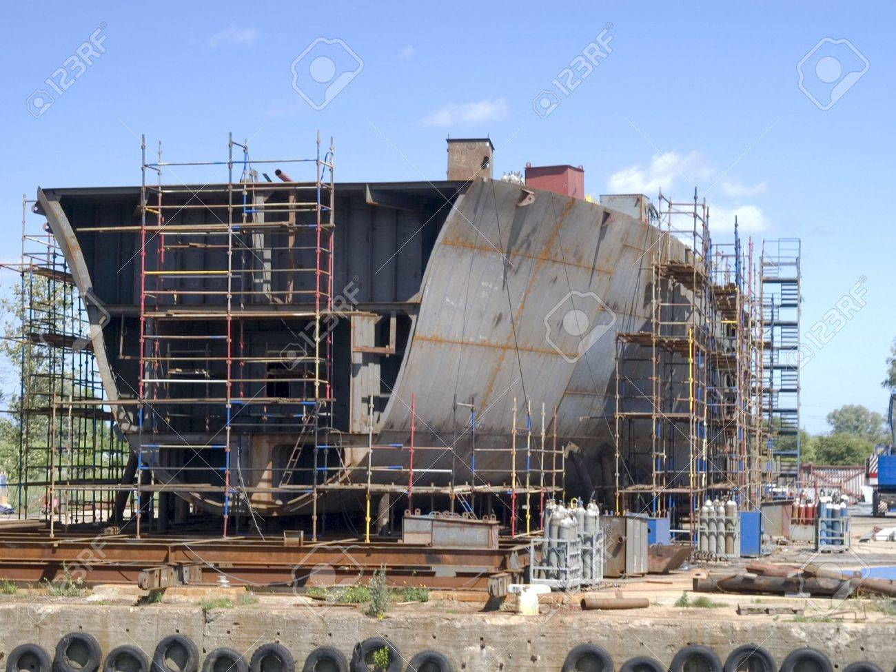 Hull during contruction works Stock Photo - 7749790