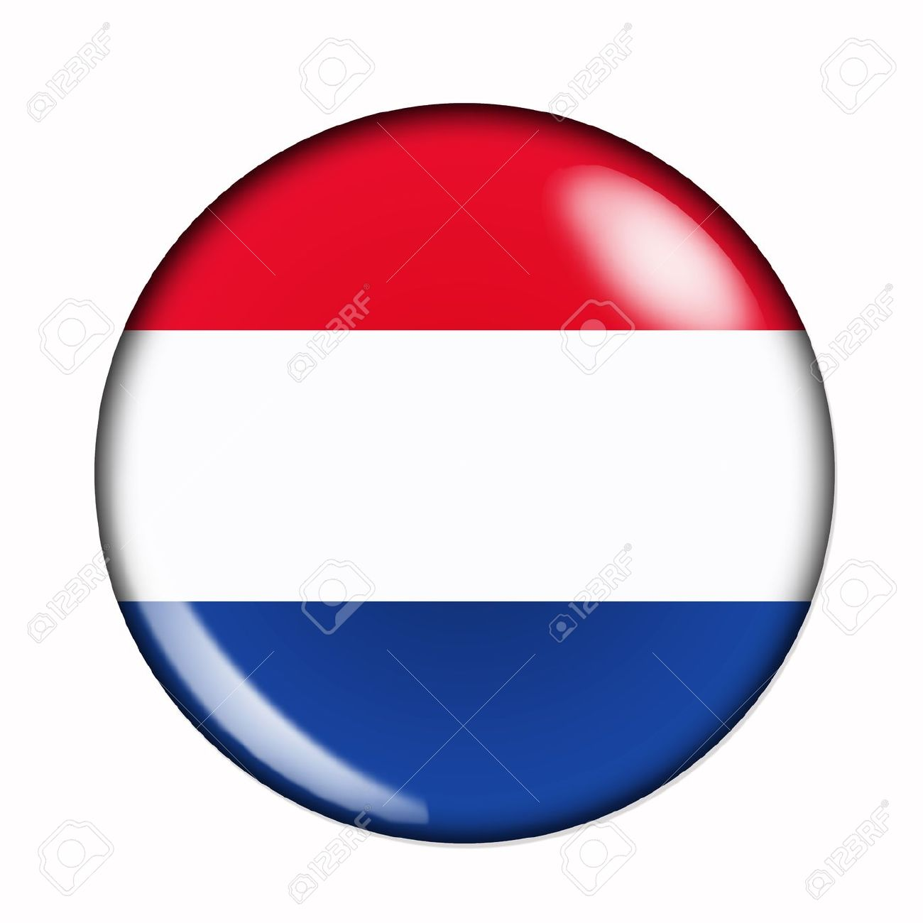 Circular,  buttonised flag of Holland Stock Photo - 14802654