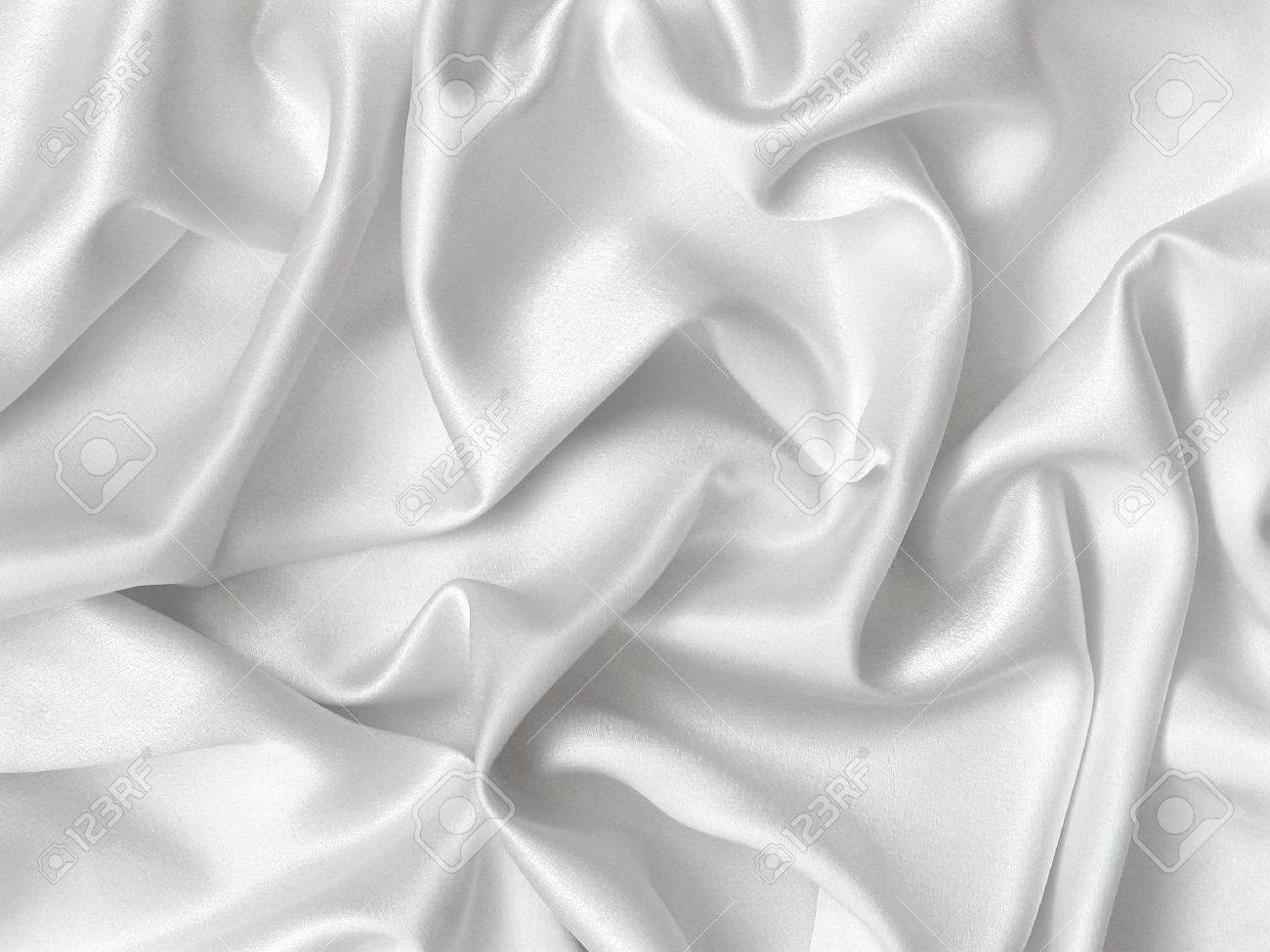 White bed sheets texture - Bed Sheet Elegant Folds Of White Silk Stock Photo