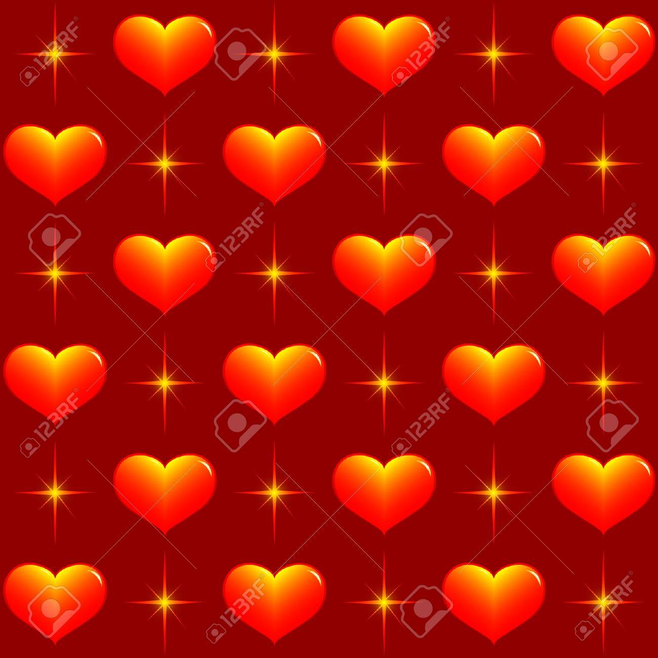 seamless vector wallpaper of hearts and stars. royalty free cliparts