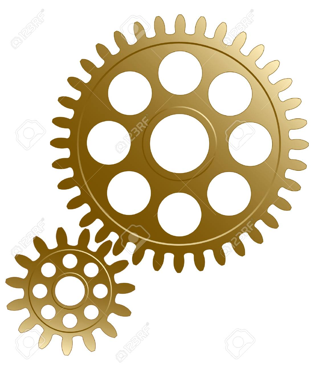 Gear set on the white background. Stock Vector - 5187342