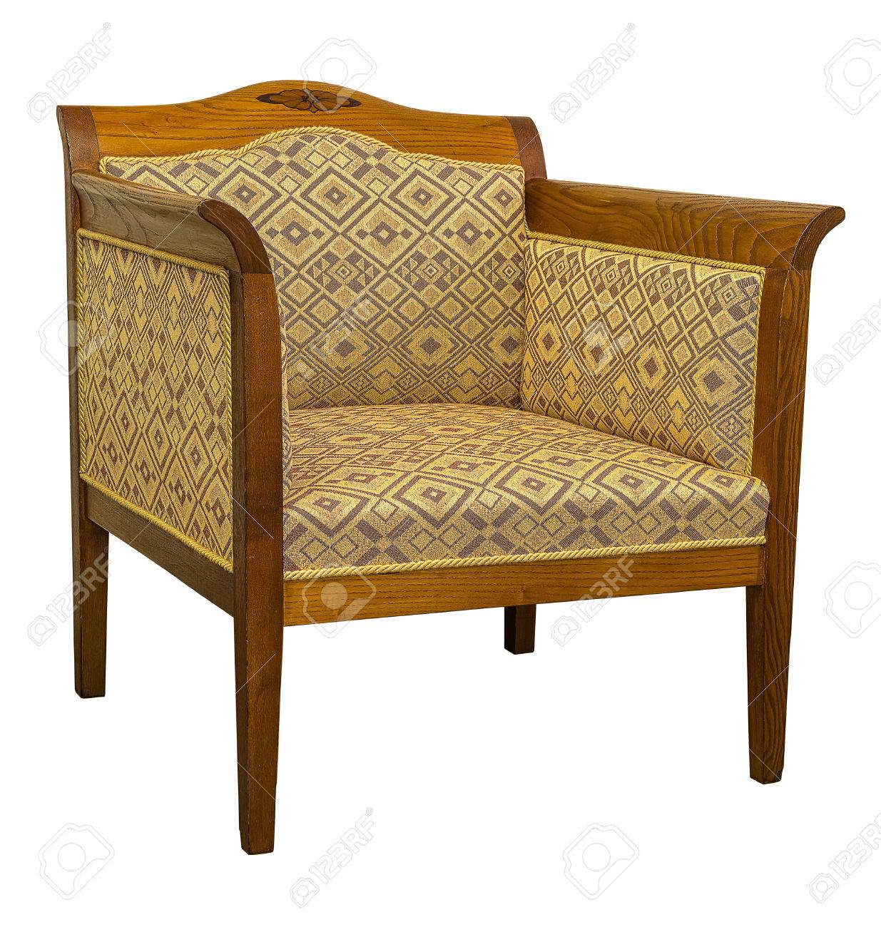 vintage art deco furniture. Stock Photo - Vintage Art Deco Chair Sofa Isolated On White Background Furniture D