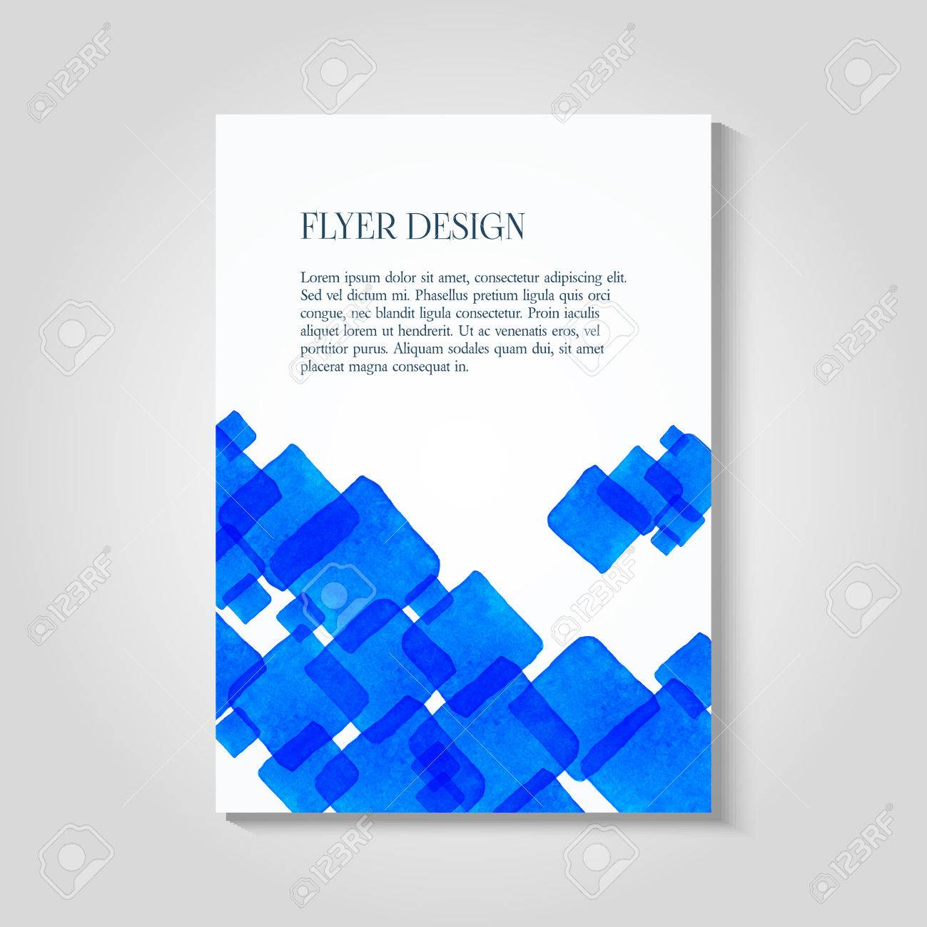 Watercolor painted background design business corporate brochure vector watercolor painted background design business corporate brochure template flyer layout postcard and invitation template stopboris Gallery