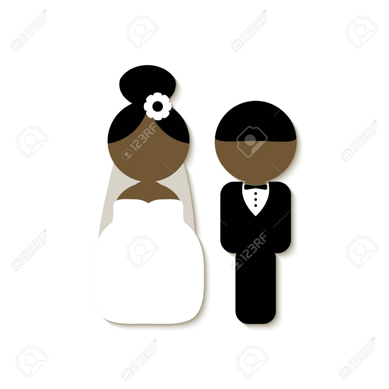 Set Von Vintage Stil Elemente Fur Hochzeitskarten Lizenzfrei