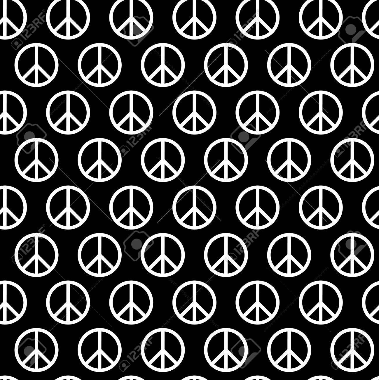 Nahtlose Muster Mit Friedenszeichen. Hintergrund Für Kind Und ...