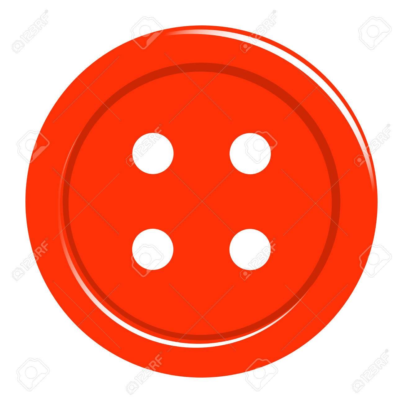 Einfache Nähen Button-Symbol Auf Weißem Isoliert. Hintergrund Für ...