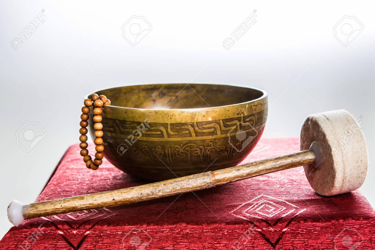 tibetan bowl Stock Photo - 25478834