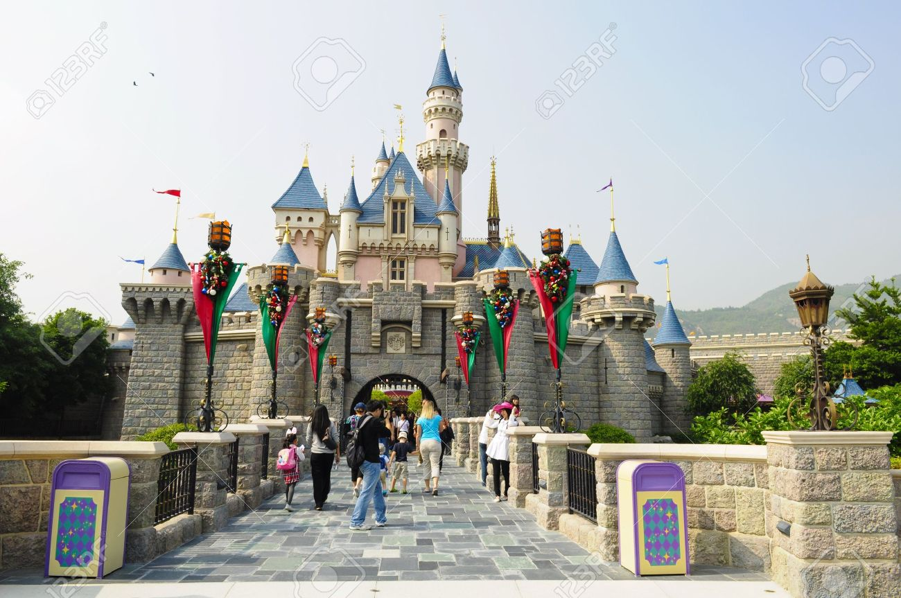 Disney Land, Hongkong - November 19,2010 -  Castle of Disney Land Stock Photo - 8844460