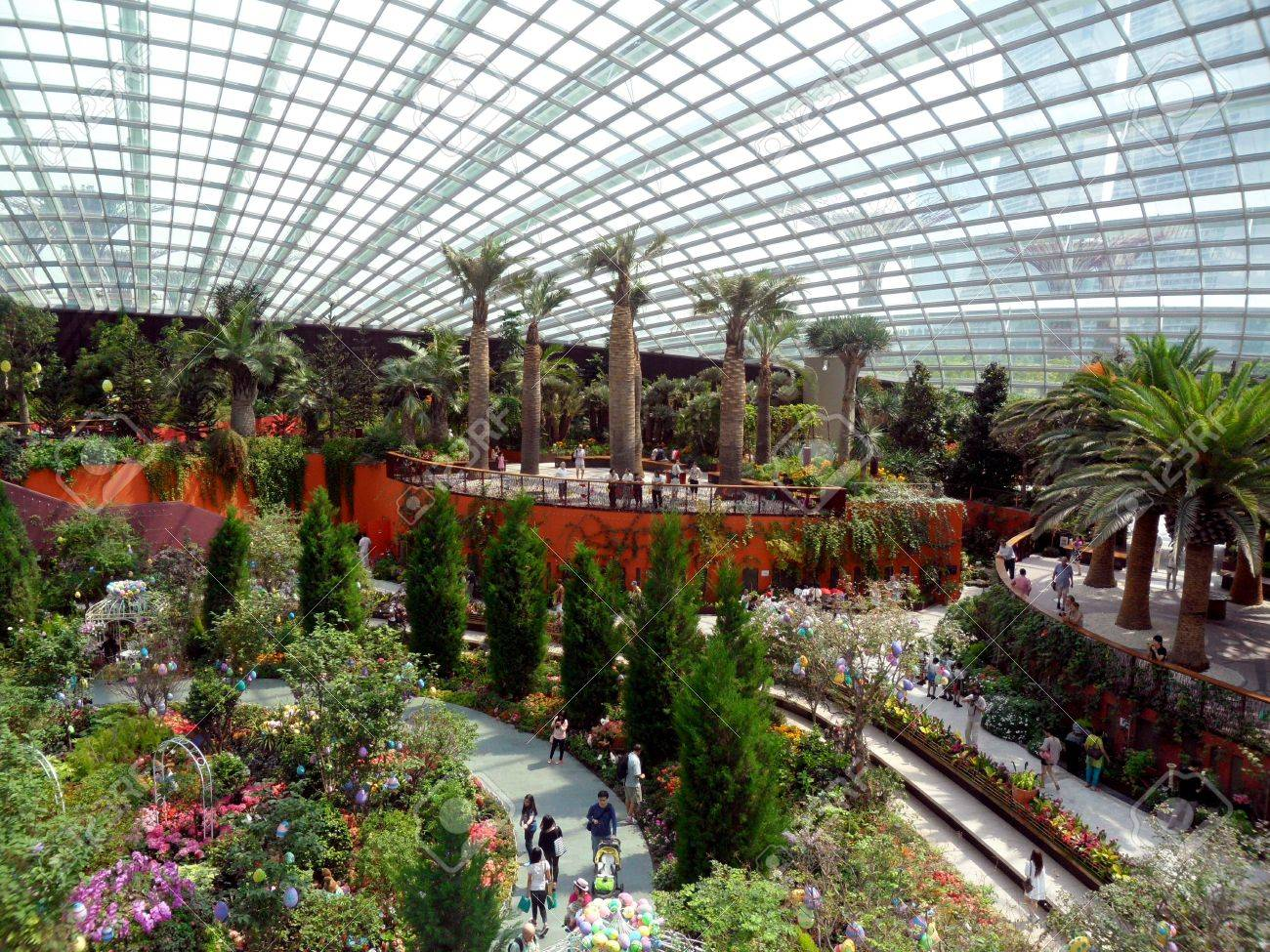 gardens by the bay flower dome singapore stock photo 21361634