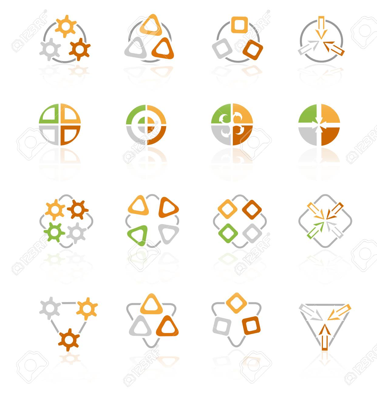 Different abstract symbols for design Stock Vector - 6602310