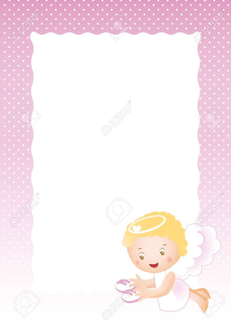Baby Frame On Born Girl Stock Photo, Picture And Royalty Free Image ...