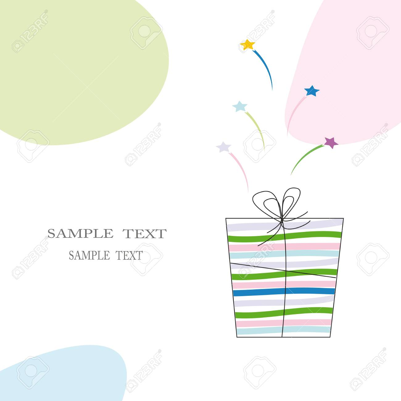 Cute card on festive occasion Stock Vector - 8509272