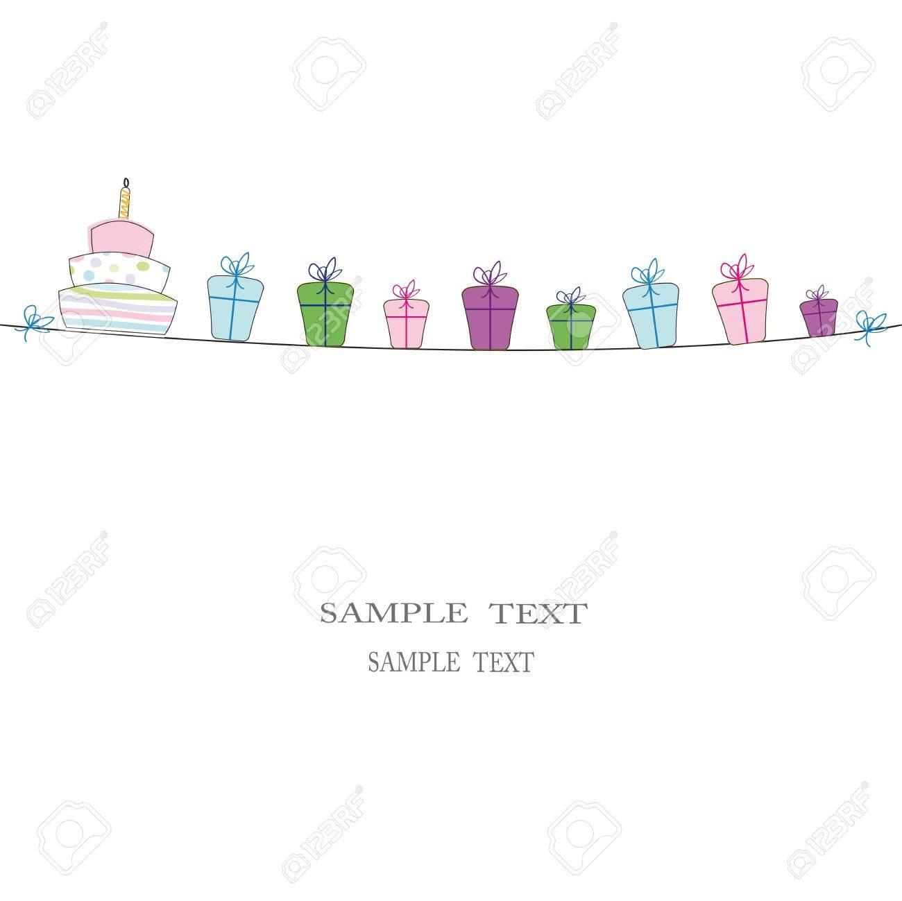 Cute card on festivite occassion Stock Photo - 9357147
