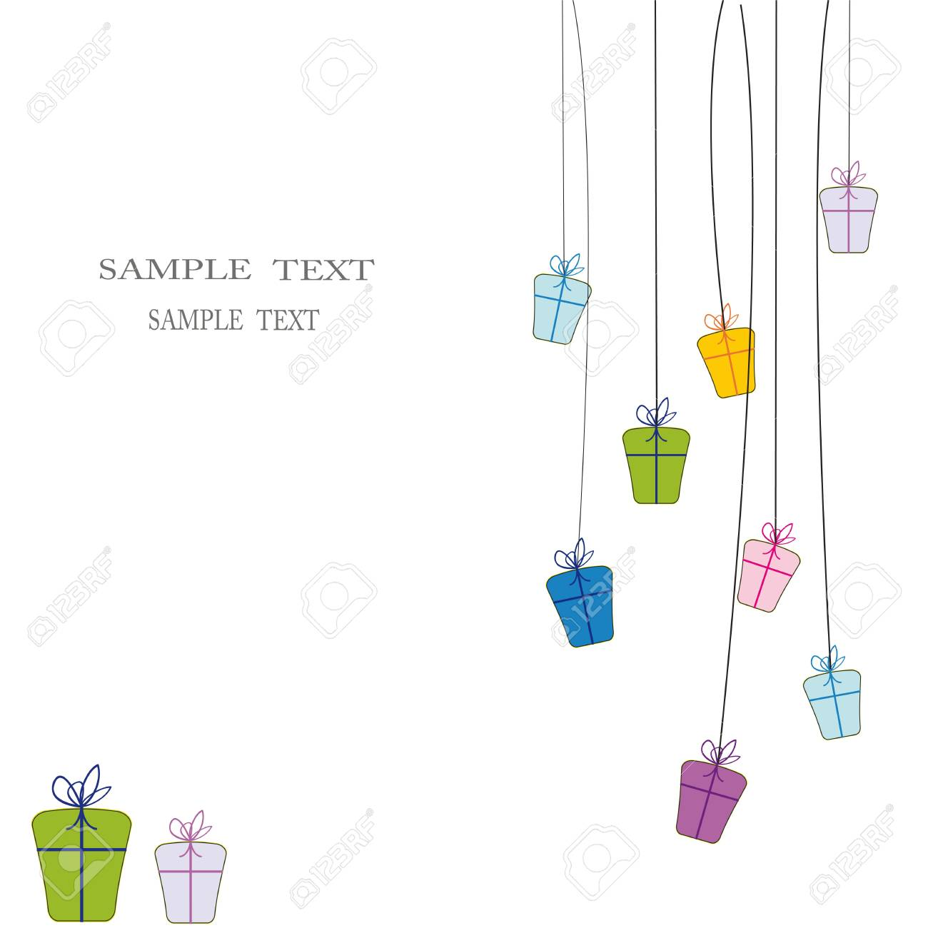 Cute card on festivite occassion Stock Vector - 9376959