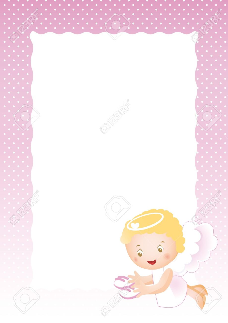 Baby Frame On Born Girl Royalty Free Cliparts, Vectors, And Stock ...