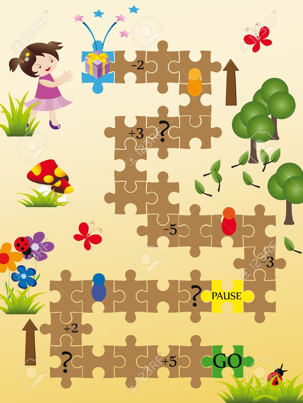 Nice board game for kids Stock Vector - 9383304
