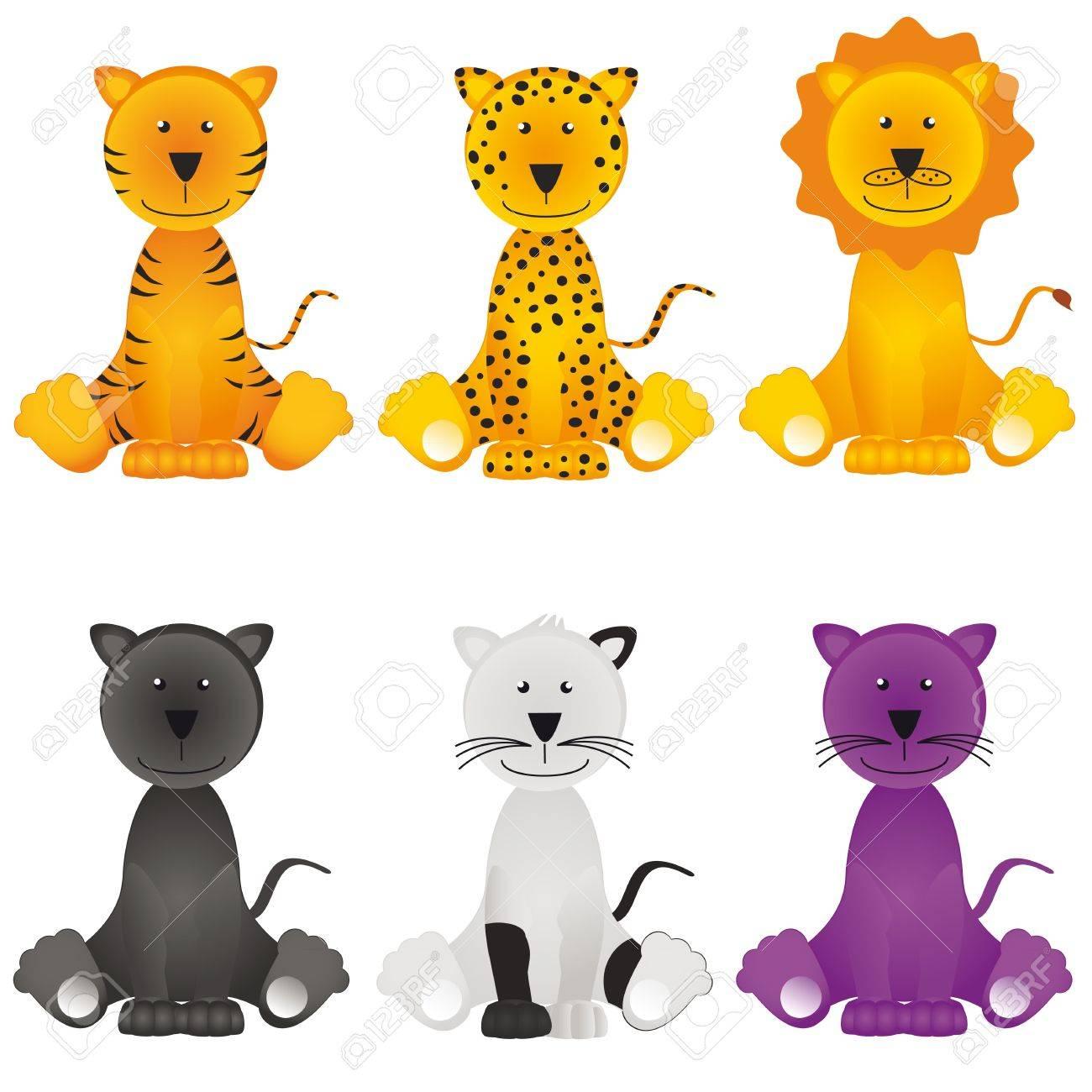 Cat, lion, leopard, jaguar, panther Stock Vector - 9394784
