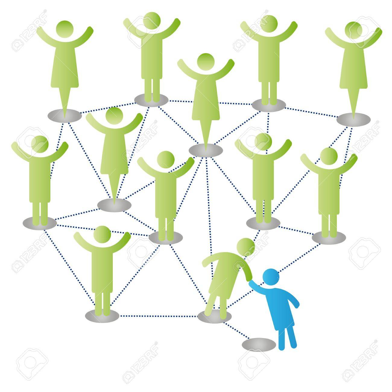 Person join people members company group Stock Vector - 9865599