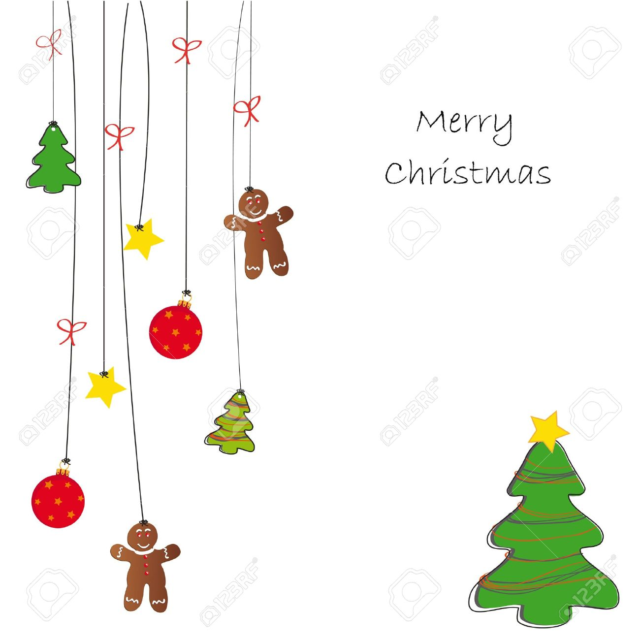 drawing background on christmas card royalty free cliparts