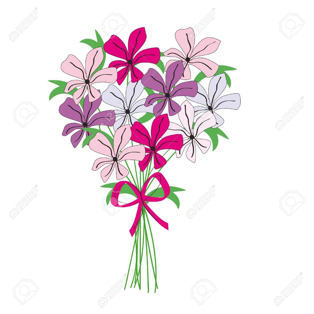 Montón De Dibujo De Flores De Color Ilustraciones Vectoriales Clip