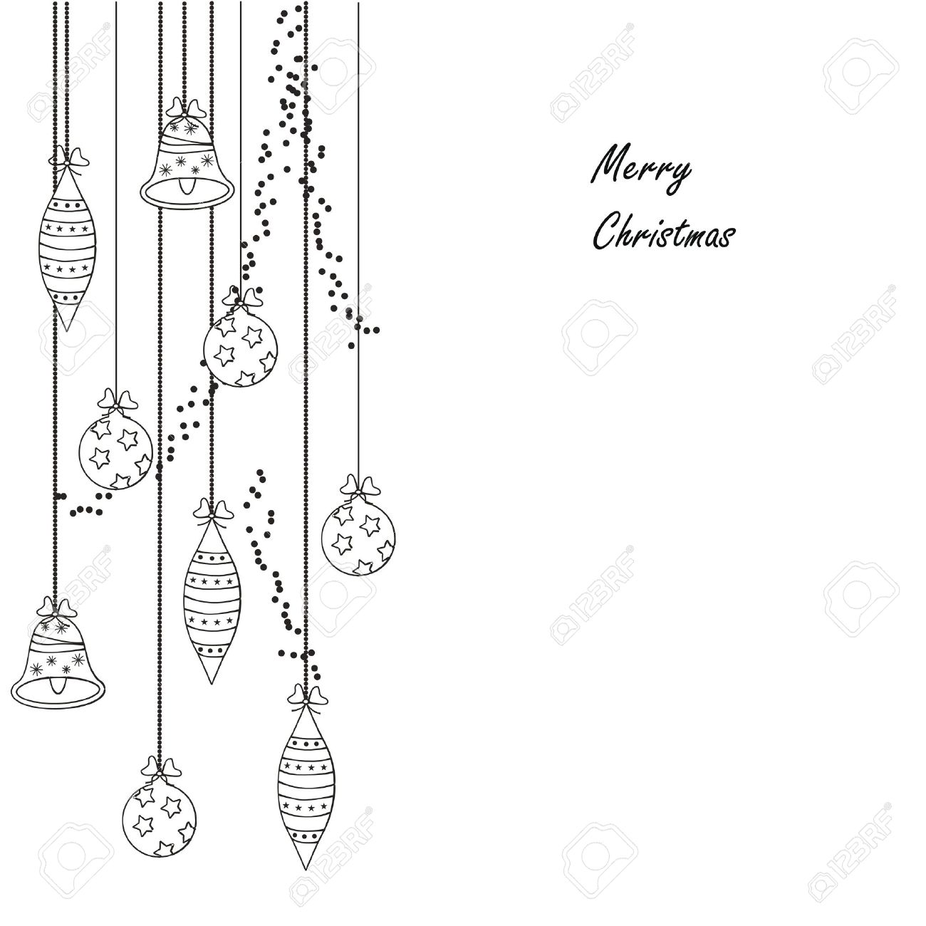 black and white modern christmas card royalty free cliparts