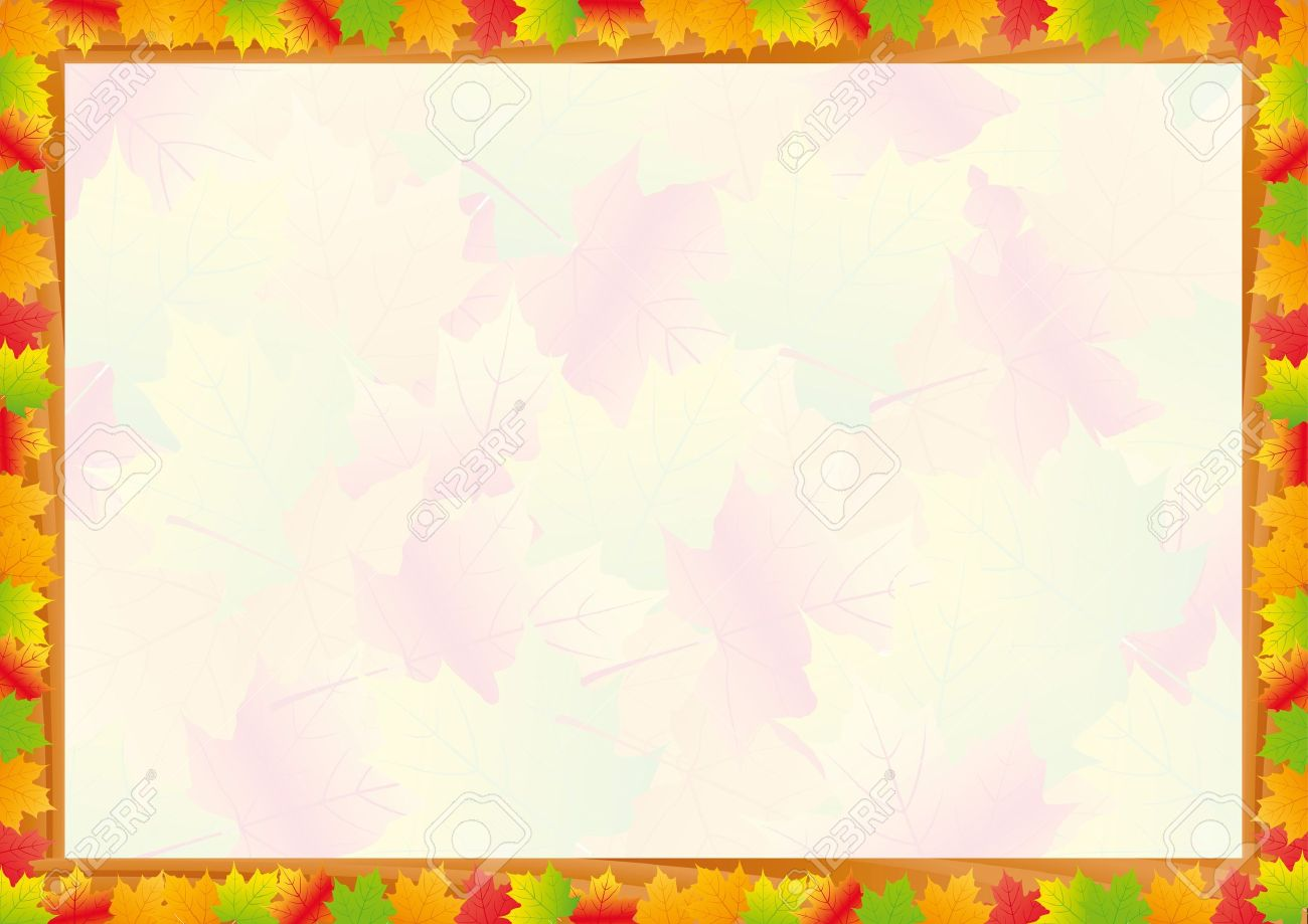Colorful fall frame with leaves Stock Vector - 10649447