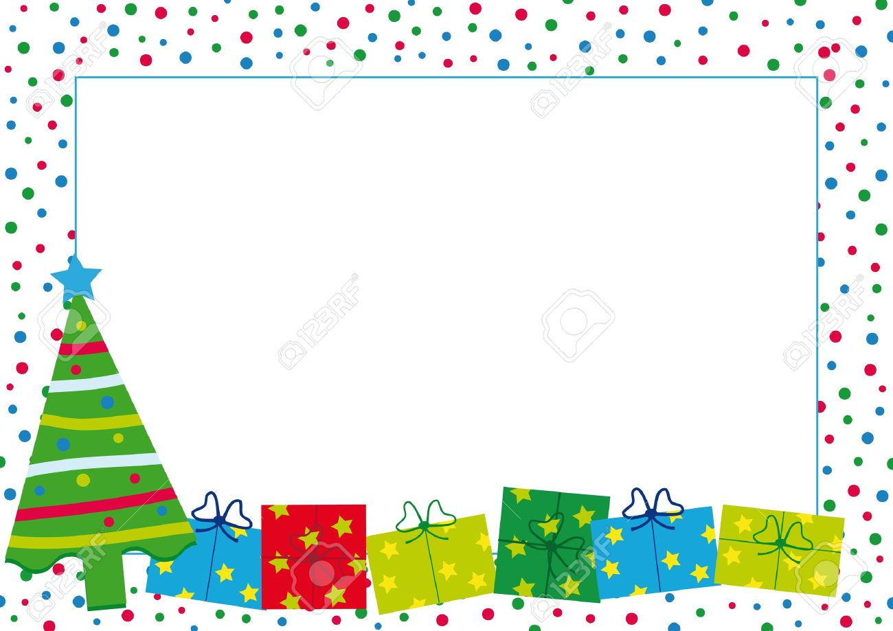 Colorful Christmas Background For Kids.Christmas And New Year Background