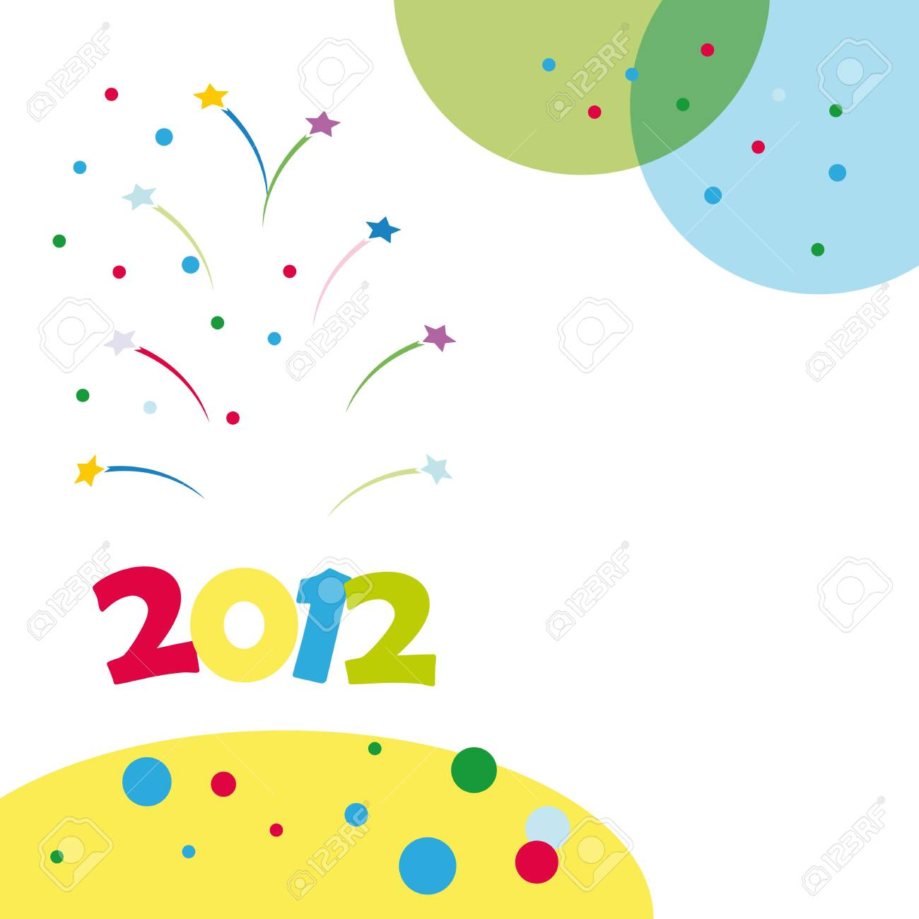 Colorful background on New Year 2012 Stock Vector - 10697794