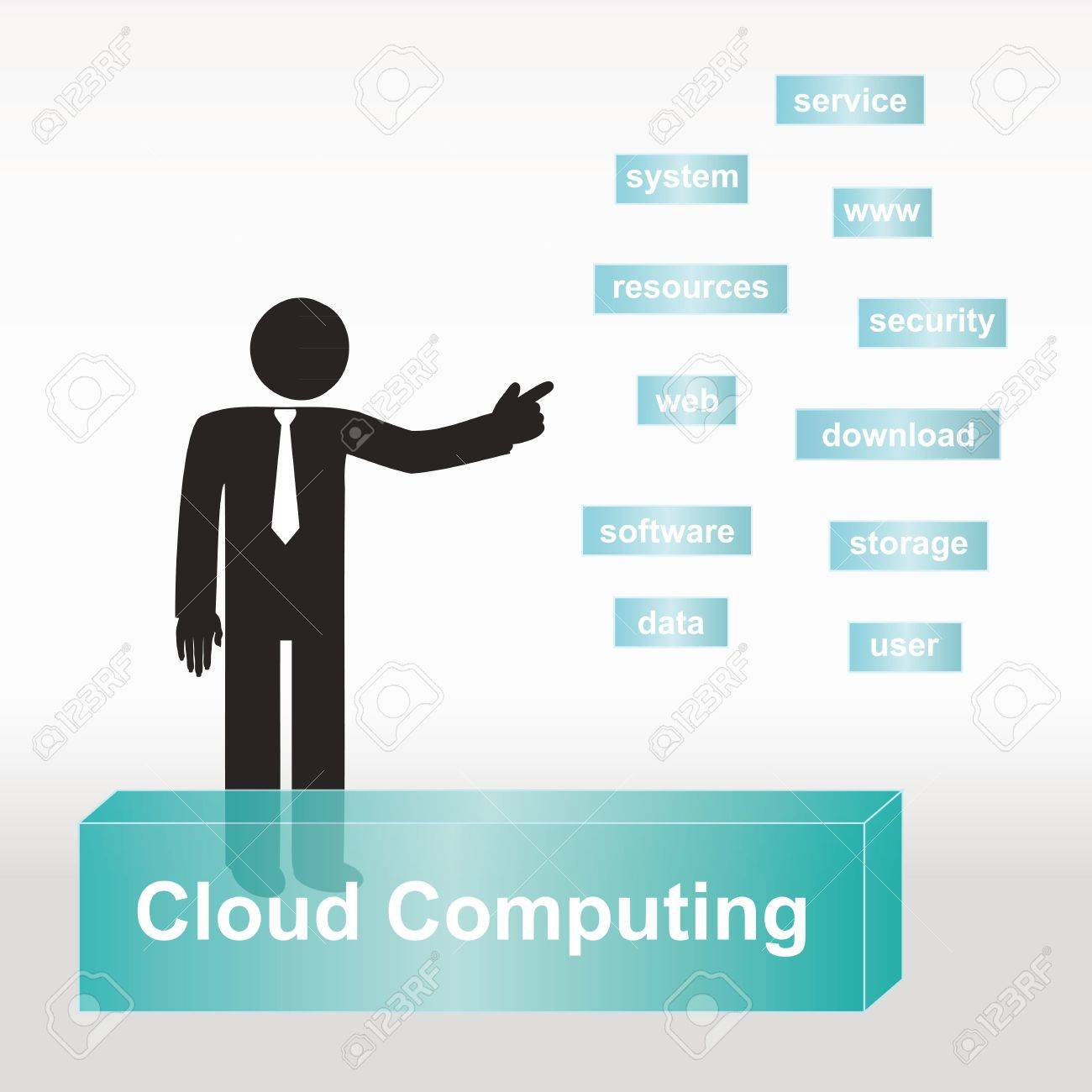 figure explain cloud computing concept- concept abstract background Stock Vector - 11151694