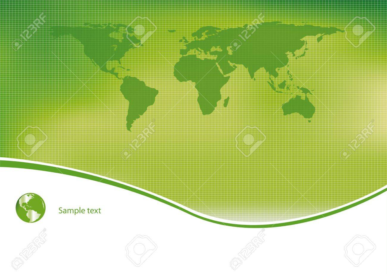 Green and ecological light background Stock Vector - 11897669