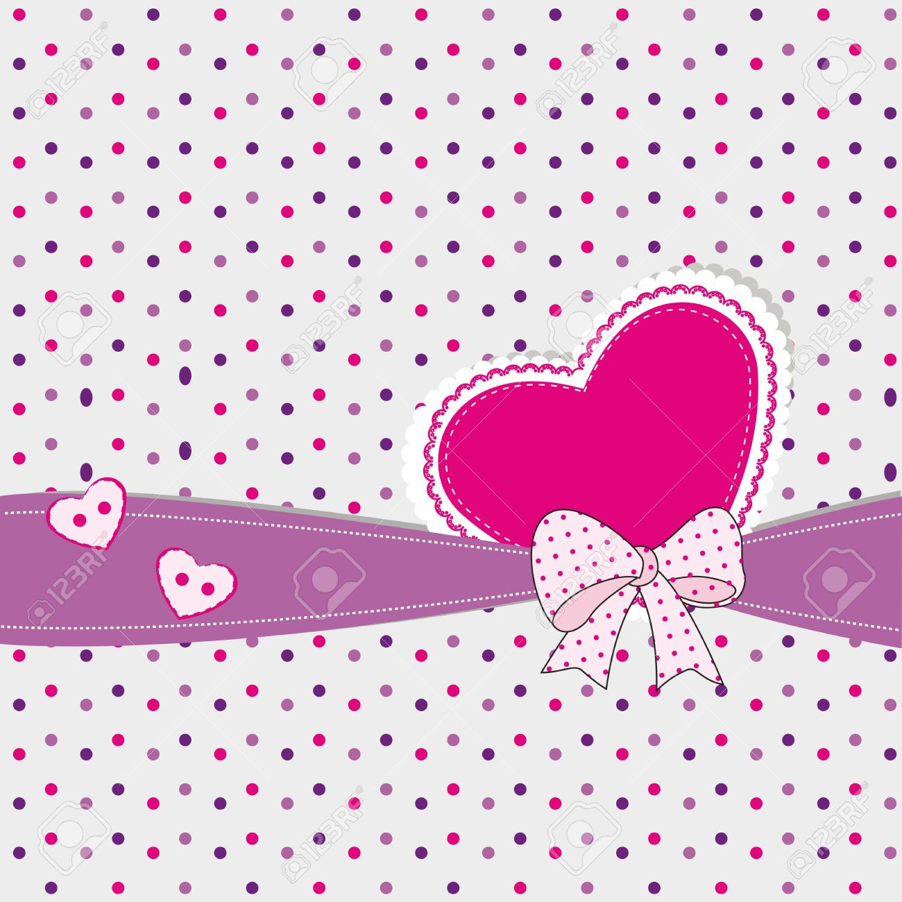 Abstract Kids Background With Heart Royalty Free Cliparts Vectors