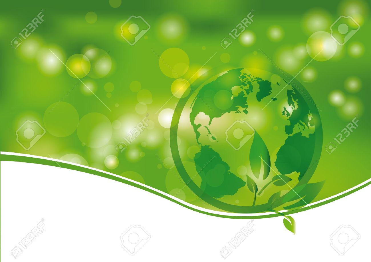 Green and light abstract background with world Stock Vector - 12293023