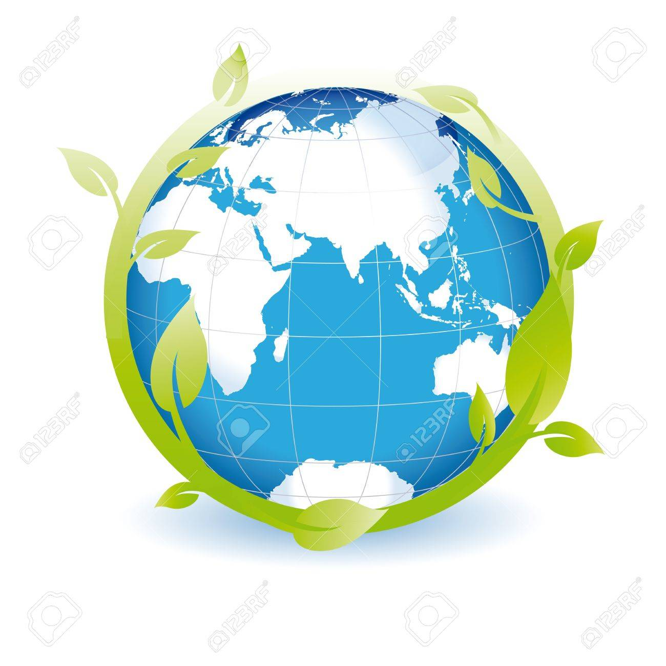 green globe you can use on earth day royalty free cliparts