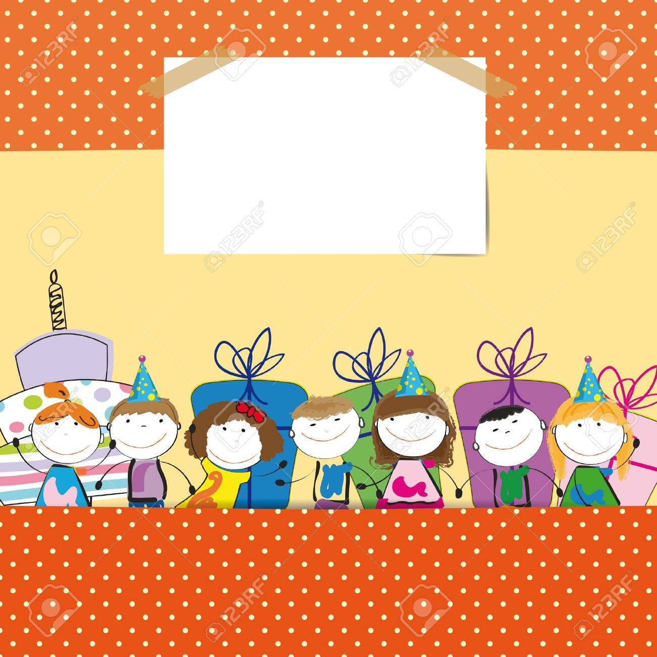 Cute Colorful Card On Your Happy Birthday Royalty Free Cliparts – Happy Birthday Kids Cards