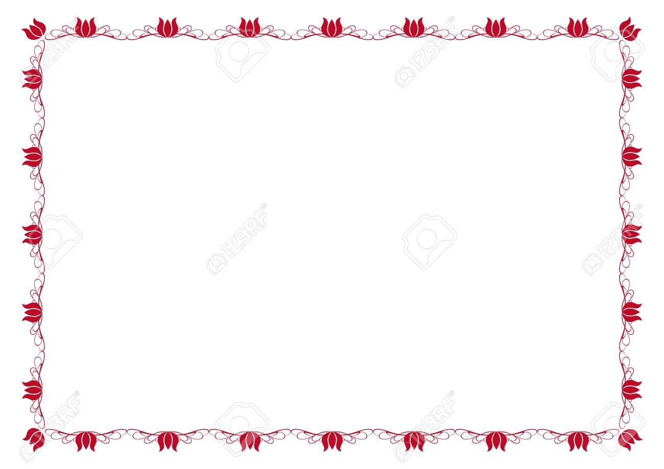 Cute, Simple Frame You Can Use Like Diploma Frame Royalty Free ...
