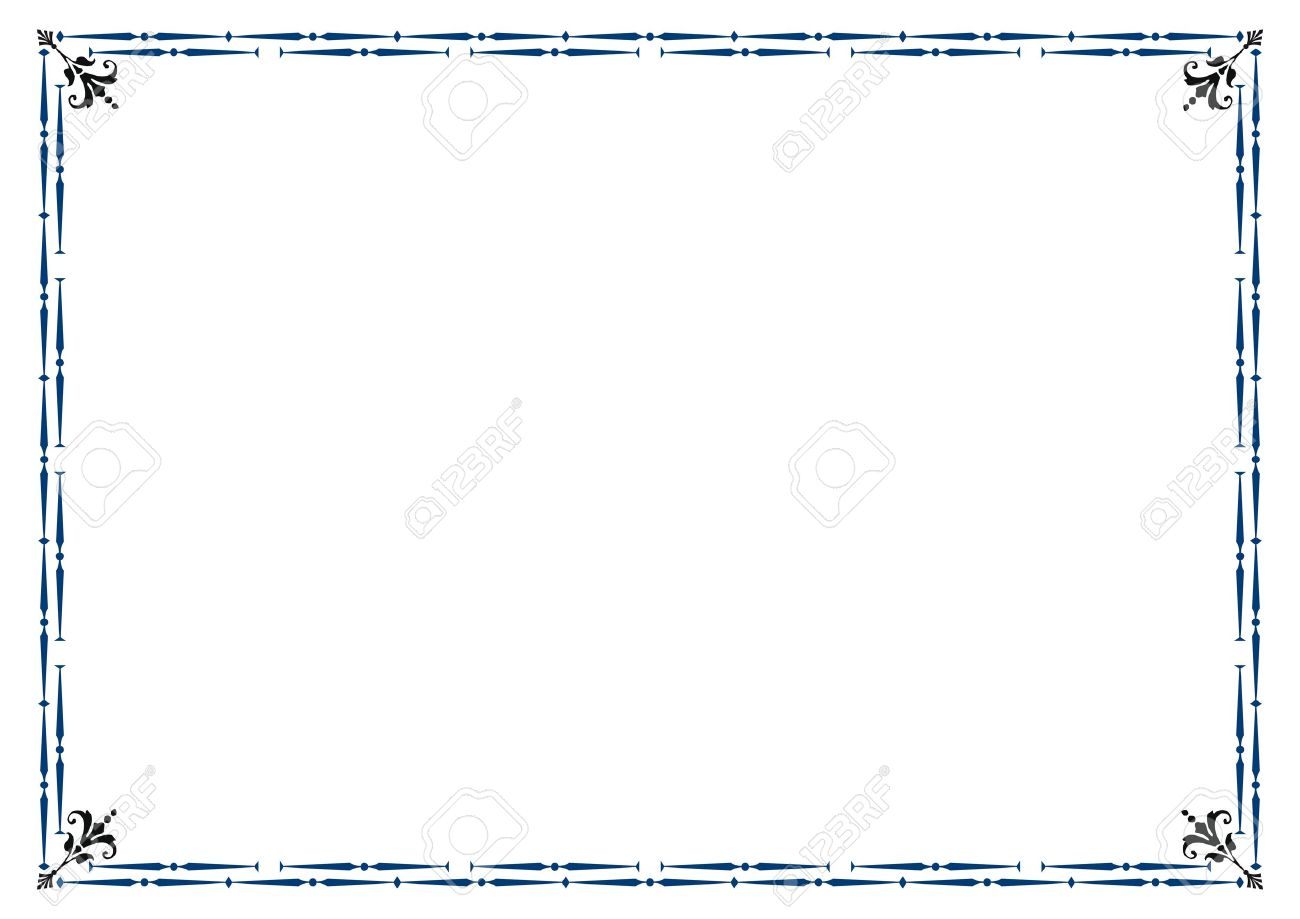 Cute Simple Frame You Can Use Like Diploma Frame Royalty Free