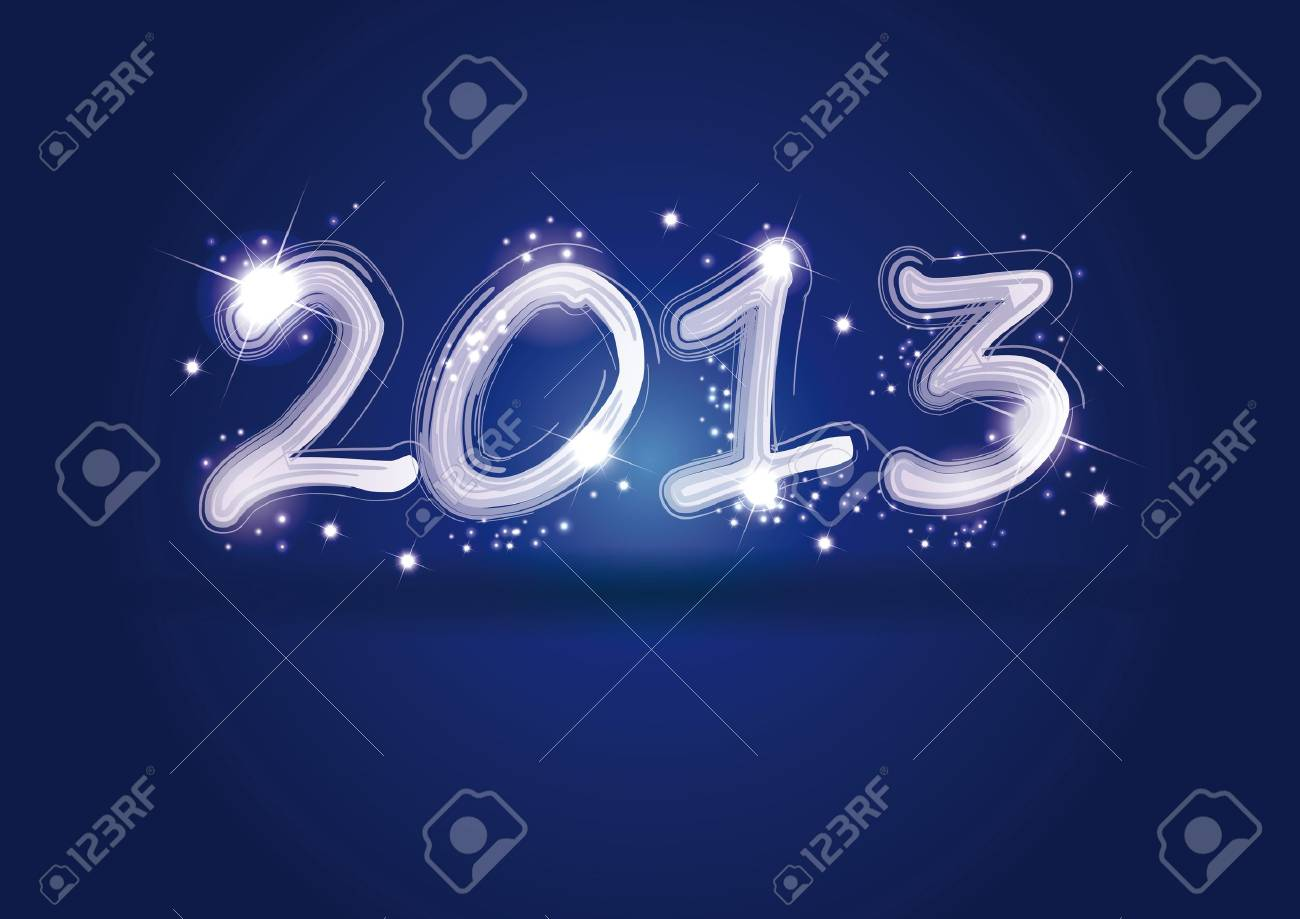 Cute and elegant card on New Year 2013 Stock Vector - 14594161