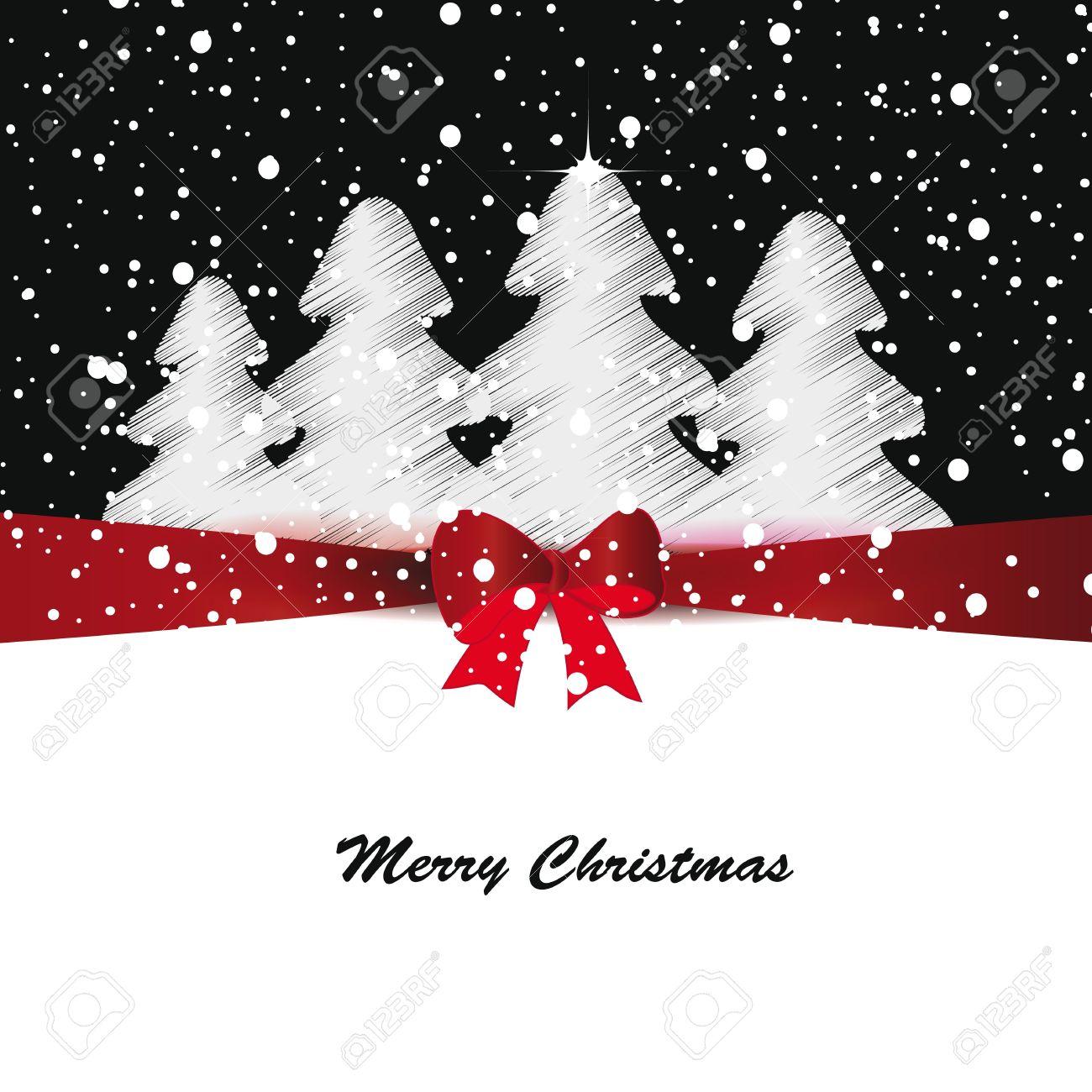 elegante y lindo feliz navidad y ao nuevo tarjetas foto de archivo