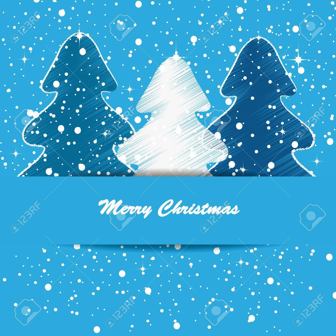 Elegant and cute Merry Christmas and New Year card Stock Vector - 15312860