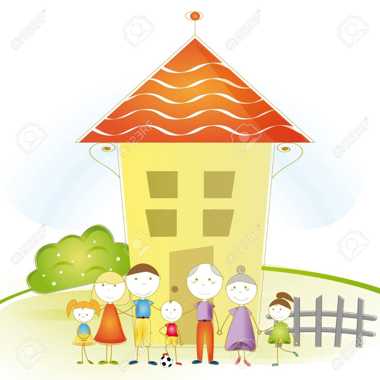 Sensational Cute And Happy All Family With As House Royalty Free Cliparts Largest Home Design Picture Inspirations Pitcheantrous
