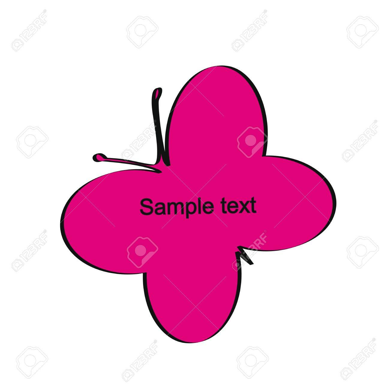 Cute and simple kids frame show butterfly Stock Vector - 18389705