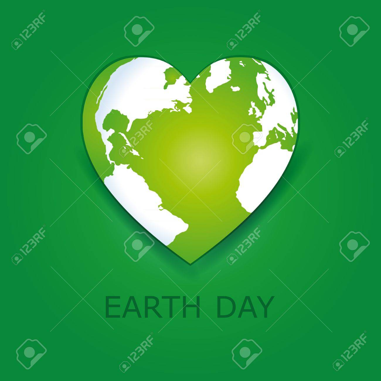 Abstract green heart together with green earth. Stock Vector - 18465682