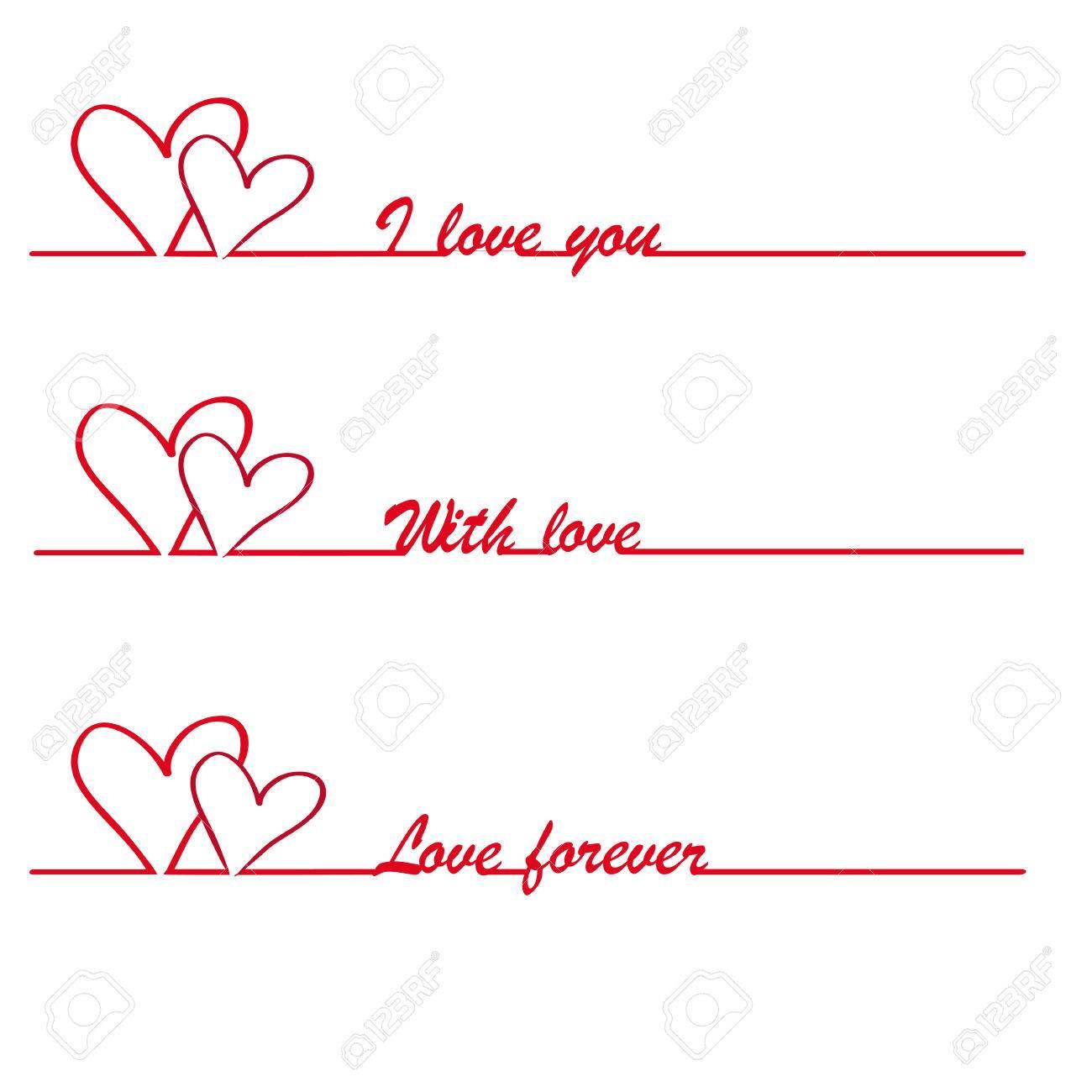 Valentine I love you vector stylish text Stock Vector - 24053729
