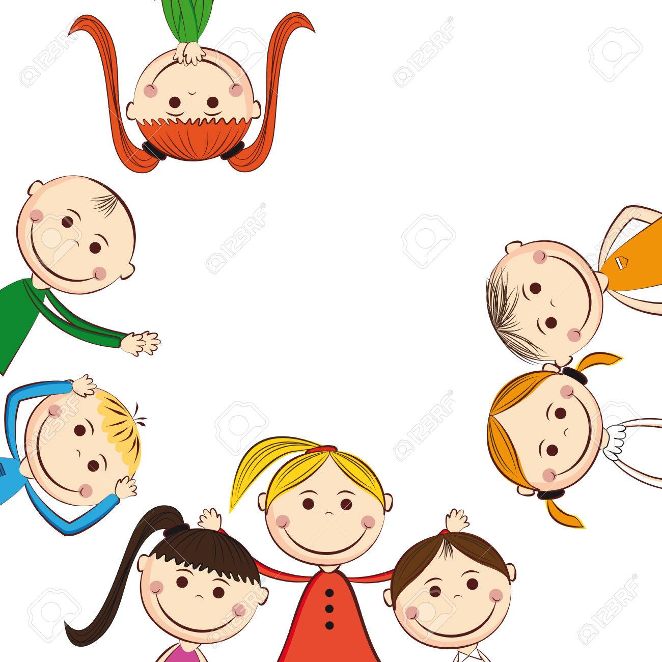 Small and smile boys and girls Stock Vector - 24814461
