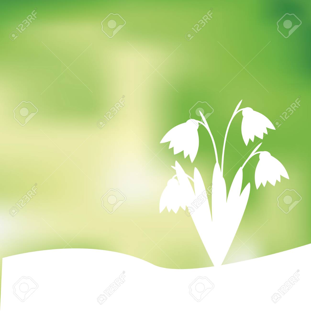Green and yellow spring background with sunlight Stock Vector - 24913967