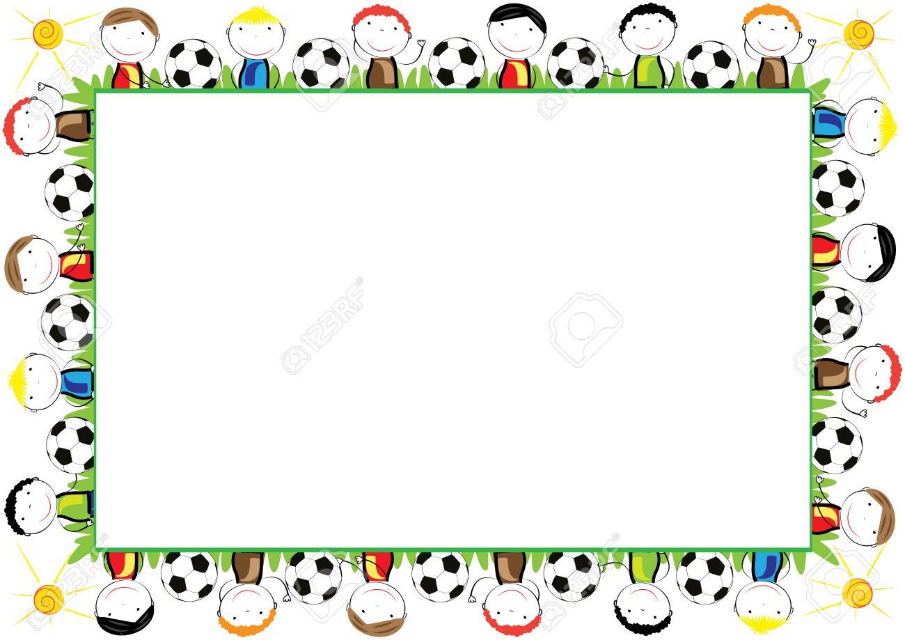 Farbige Rahmen Für Kinder Mit Glücklichen Jungen Lizenzfrei Nutzbare ...