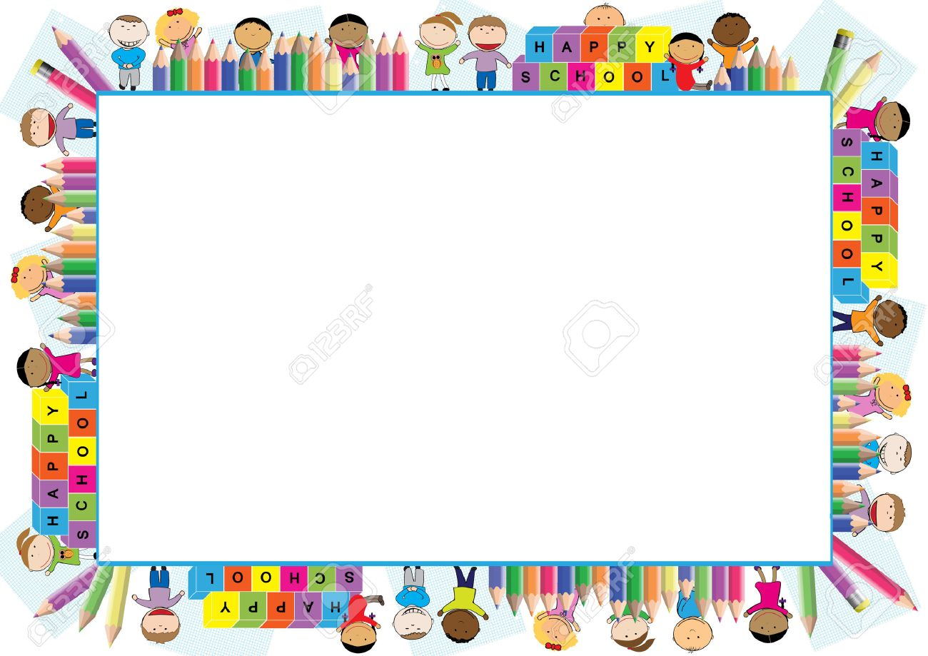 Colored Frame For The School Year Royalty Free Cliparts, Vectors ...